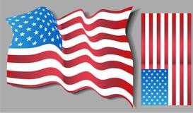 USA Flag Set Royalty Free Stock Photography
