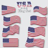 USA flag set. Abstract  vector background for your design. Stock Images