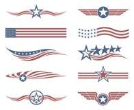 USA flag set Royalty Free Stock Image