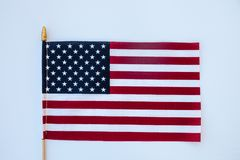 USA Flag on solid background. United States of America stars and stripes flag on a solid backdrop Royalty Free Stock Images