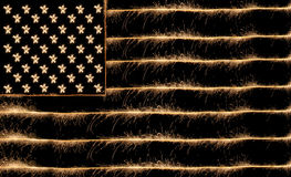 Usa flag sparkler Royalty Free Stock Photos