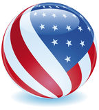 USA Flag Sphere Twist Royalty Free Stock Photography