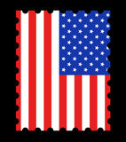 USA Flag Stamp Stock Image