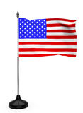 USA Flag with stand Royalty Free Stock Photo