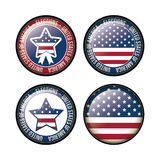 Usa flag and star button of vote concept Stock Photos