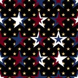 USA flag star military color seamless pattern. This illustration is design USA flag star element with decoration military colors in symmetry seamless pattern Royalty Free Illustration