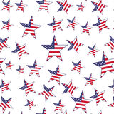 USA flag stars seamless pattern. Vector background Stock Image