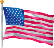 USA Flag Stars and Stripes Low Polygon Royalty Free Stock Photography