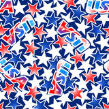 USA flag with stars and stripes seamless pattern Stock Image