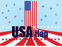 USA flag stock illustration