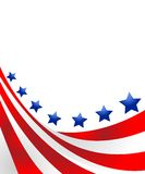 USA flag in style  Royalty Free Stock Images