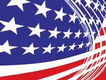 USA flag in style Royalty Free Stock Photo
