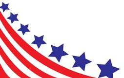 USA flag in style. On white Royalty Free Stock Photography