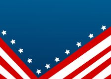 USA flag in style vector royalty free stock photos