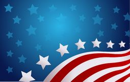 USA flag in style vector illustration