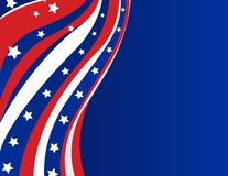 USA flag in style stock illustration