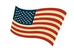 USA flag in style Stock Photography