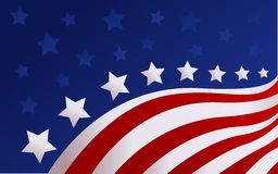 USA flag in style vector. Abstract USA flag in style vector Stock Photo