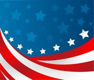 USA flag in style vector Stock Image
