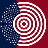 USA flag symbol Royalty Free Stock Photography