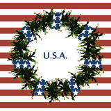 USA flag symbols. Abstract background with the symbols of the United States. USA flag. Stock Image