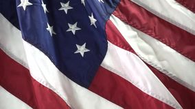 The American Flag. USA flag on a table stock video
