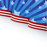 USA flag theme. Background with place for your copy\text Stock Image