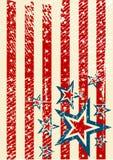 USA flag theme Stock Image