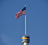 USA flag on tower Stock Images