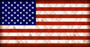 USA flag triangle background. USA flag triangle background retro Stock Illustration