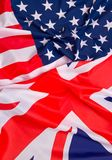 USA flag and UK Flag background. Relations between States Royalty Free Stock Images