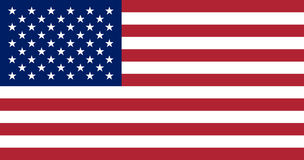 USA flag. United States of America national symbol. 13 stripes and 50 stars. Vector Stock Photos