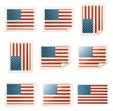 USA Flag Variety Royalty Free Stock Photography