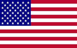Usa flag vector. Illustration. Eps 10 america flag Royalty Free Stock Photo