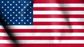 USA flag velvet fabric, United States of America flag in suede e. Ffect textile background Stock Image