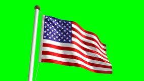 USA flag stock footage