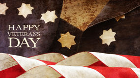 Usa flag. Waves Stars and Stripes. Happy Veterans Day Royalty Free Stock Photo