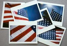 USA flag waving in the sky Stock Photos