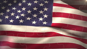 USA flag waving in the wind. Digital animation of USA flag waving in the wind stock footage