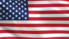 USA Flag waving in the wind. Looped animation background stock video footage