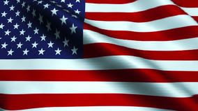 USA flag waving in the wind. Seamless loop stock video