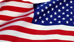 USA flag waving in the wind Stock Photography