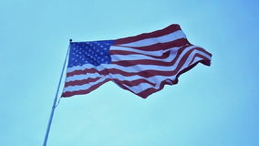USA flag waving in the wind Royalty Free Stock Images