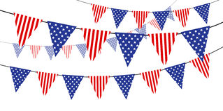 USA flag stock illustration