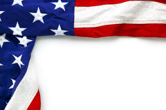 USA flag on white Royalty Free Stock Photography