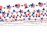 USA flag on white background for independence day. Or other celebration Royalty Free Stock Images