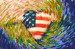 USA Heart royalty free stock images