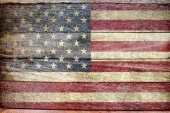 ๊USA flag on wood background Stock Photography
