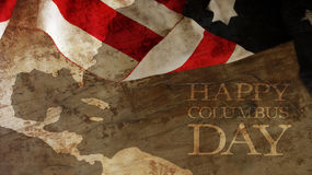 Usa Flag and Wood. Columbus Day Royalty Free Stock Images
