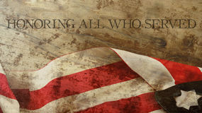 Usa Flag and Wood. Honoring All Who Served. Veterans Day. Usa Flag and Wood Royalty Free Stock Photography